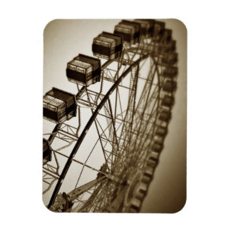 Vintage Ferris Wheel Rectangular Photo Magnet
