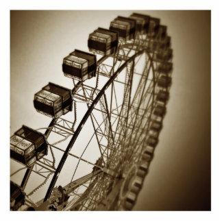 Vintage Ferris Wheel Statuette