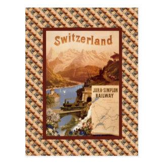 Vintage ferrocarril de Suiza, el Jura Simplon Postales