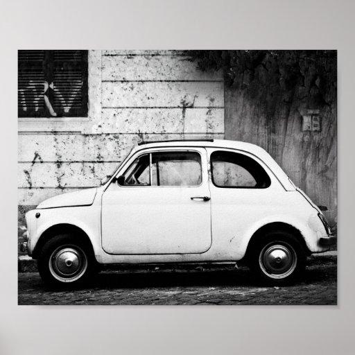 Vintage Fiat 500, Cinquecento, in Rome, Italy. Posters