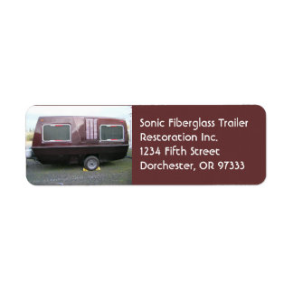 Vintage Fiberglass Travel Trailer Custom Return Address Labels
