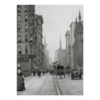 Vintage Fifth Avenue Photograph (1912) Poster