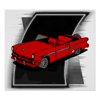 Vintage Fifties Car Poster