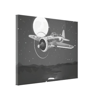 Vintage fighter Aircraft Stretched Canvas Prints