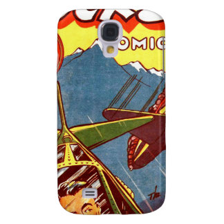 Vintage Fighter Aircraft Comic Galaxy S4 Cover