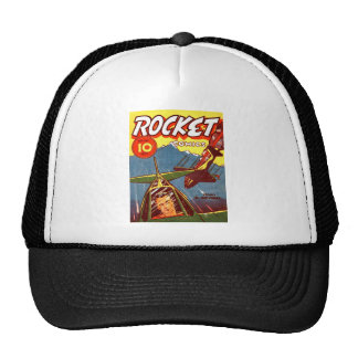 Vintage Fighter Aircraft Comic Trucker Hats