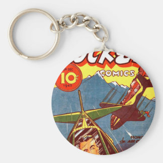 Vintage Fighter Aircraft Comic Key Chains