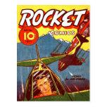 Vintage Fighter Aircraft Comic Postcard