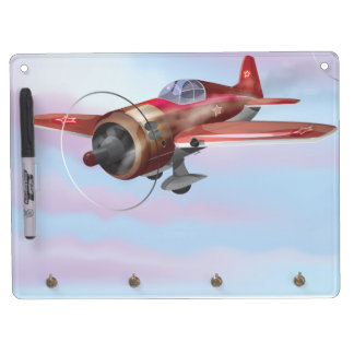 Vintage fighter Aircraft Dry Erase Board With Keychain Holder