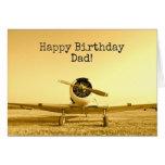 Vintage Fighter Airplane CUSTOM Birthday Card