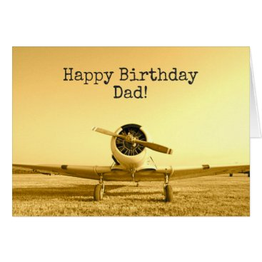 Vintage Fighter Airplane CUSTOM Birthday Card