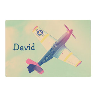 Vintage Fighter Airplane Custom Placemat