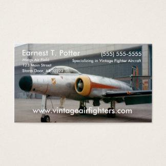 Vintage Fighter Jet Business Card