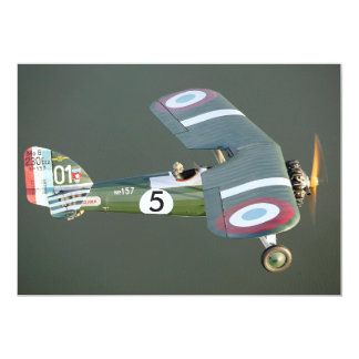 Vintage Fighter Plane Birthday Edit number & Photo Card