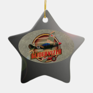 VINTAGE FIGHTER PLANE. CHRISTMAS TREE ORNAMENTS