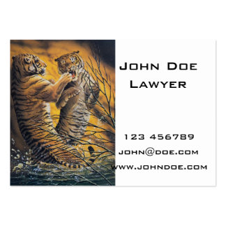Vintage Fighting Tigers Business Card Template