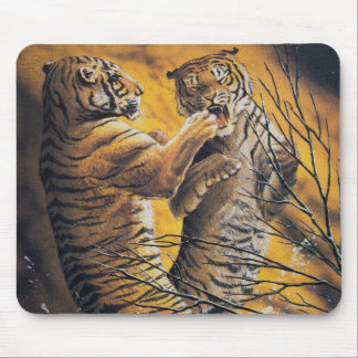 Vintage Fighting Tigers Mouse Pad