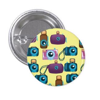 Vintage Film Camera Pattern Pinback Button