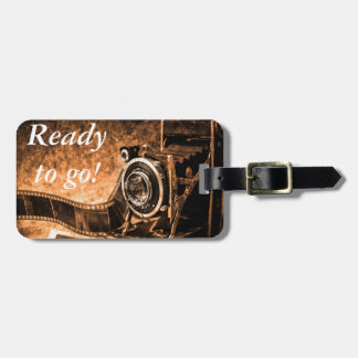 Vintage film camera -photography bag tag