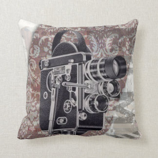 Vintage Film Camera Throw Pillow