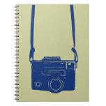 Vintage Film Camera with Neck Strap Notebook