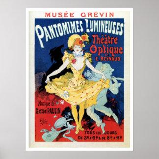 Vintage film history art nouveau poster