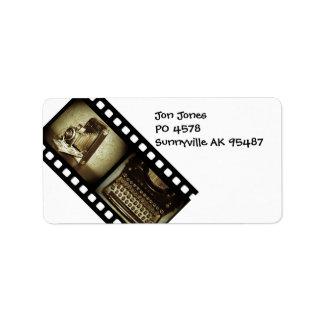 Vintage Film Label