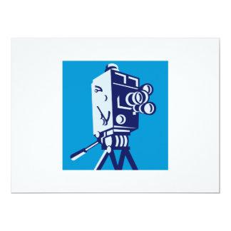 "Vintage Film Movie Camera Retro 6.5"" X 8.75"" Invitation Card"