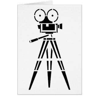 Vintage Film Movie Set Camera Card