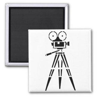 Vintage Film Movie Set Camera Fridge Magnets