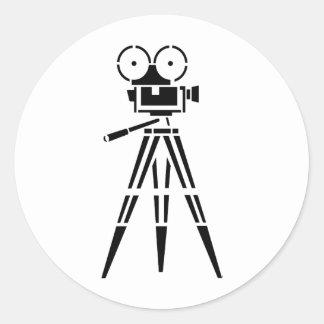 Vintage Film Movie Set Camera Round Stickers