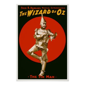 Vintage Film Poster - The Wizard of OZ Tin Man