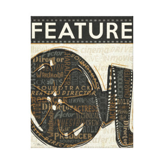 Vintage Film Reel Gallery Wrapped Canvas