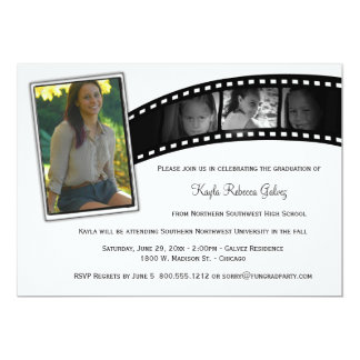 Vintage Film Strip Graduation Party Photo Invite