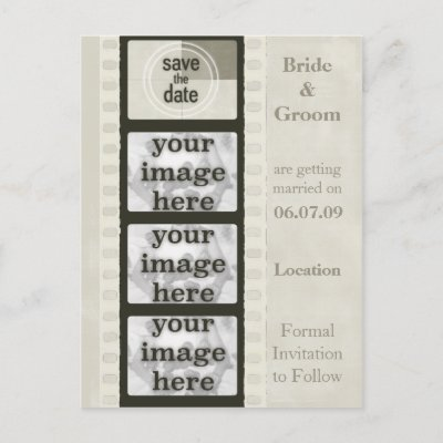 Vintage Wedding Save  Dates on Http   Rlv Zcache Com Vintage Film Strip Save The Date Photo Postcards