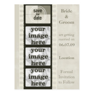 Vintage Film Strip Save the Date Photo Postcards