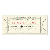 Vintage Film Ticket Invitation 4&quot; X 9.25&quot; Invitation Card (<em>$3.20</em>)
