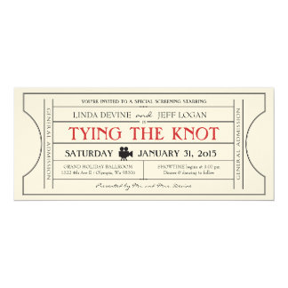 Vintage Film Ticket Invitation