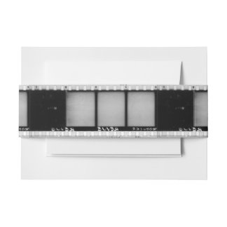 Vintage Filmstrip Invitation Belly Band