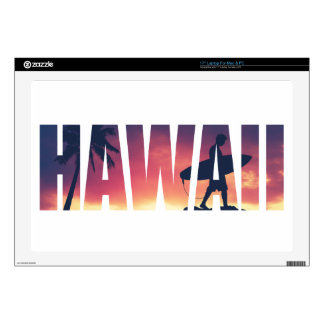 "Vintage Filtered Hawaii Postcard Skins For 17"" Laptops"