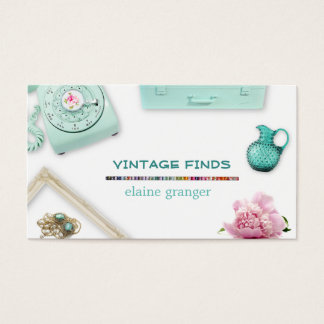 Vintage Finds Treasures Retro Business Card
