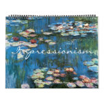 Vintage Fine Art Impressionism Paintings Calendar