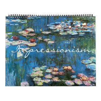 Vintage Fine Art Impressionism Paintings Calendar