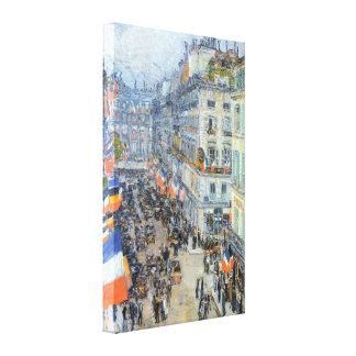 Vintage Fine Art, July 14th, Rue Daunou by Hassam Canvas Print