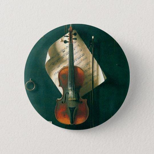 Vintage Fine Art, Old Violin Still Life by Harnett Button