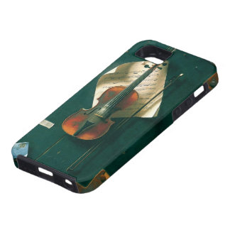 Vintage Fine Art, Old Violin Still Life by Harnett iPhone SE/5/5s Case