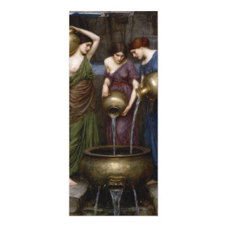 Vintage Fine Art Painting Danaides Card