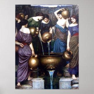 Vintage Fine Art, The Danaides by JW Waterhouse Poster