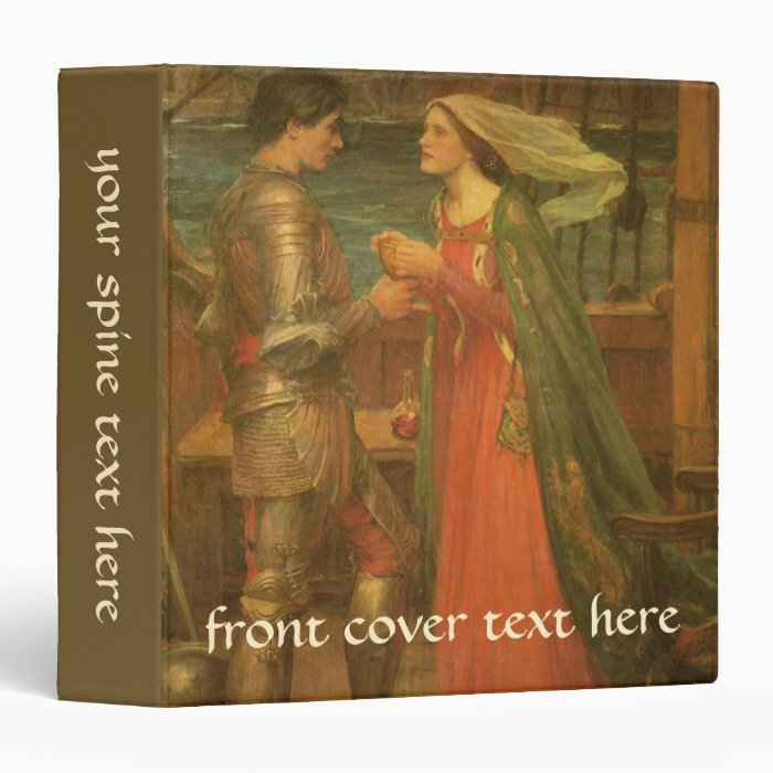 Vintage Fine Art, Tristan and Isolde by Waterhouse Binder
