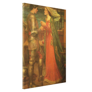 Vintage Fine Art, Tristan and Isolde by Waterhouse Canvas Print